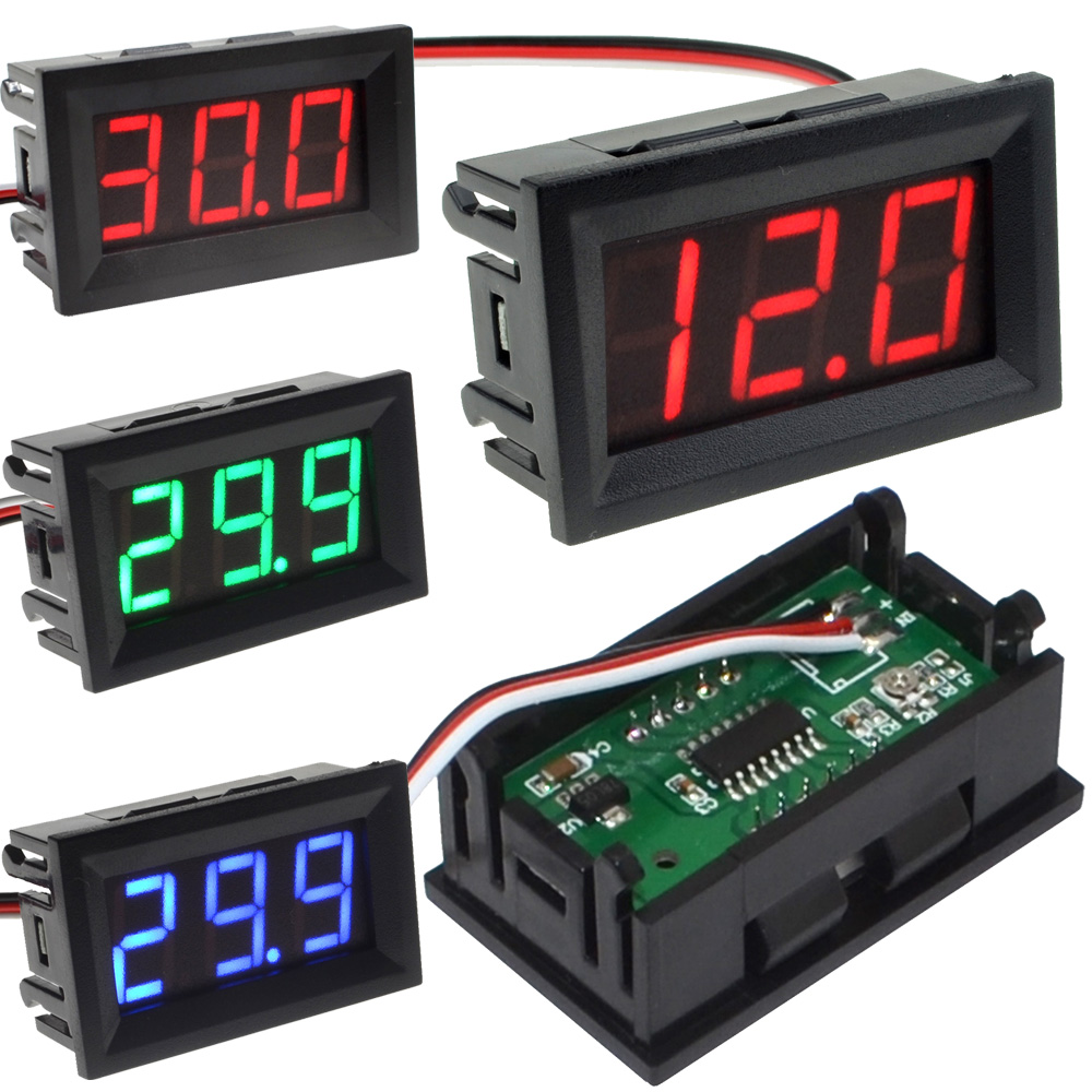 New 50pcs lot 3 Wire Red blue Green 0 56 DC0 100V External Power Supply Digital