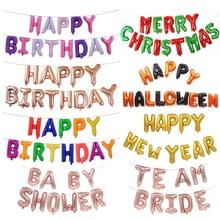 Happy Birthday Balloon BabyShower Nytår Julebrev Balloner Fødselsdagsindretninger Voksne Børn Event Party Supplies