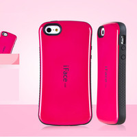 IFace Coque Candy Color Case For Apple IPhone 5c TPU PC Shockproof Cover For IPhone 5C
