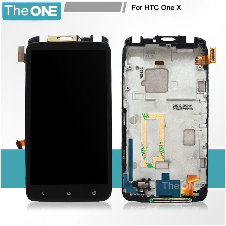 TOP Quality Full LCD Display Touch Screen Digitizer Assembly + Frame For HTC One X S720e G23 Replacement Parts Free shipping top quality lcd screen display touch digitizer assembly with frame for htc one m9 phone repair parts white gold black