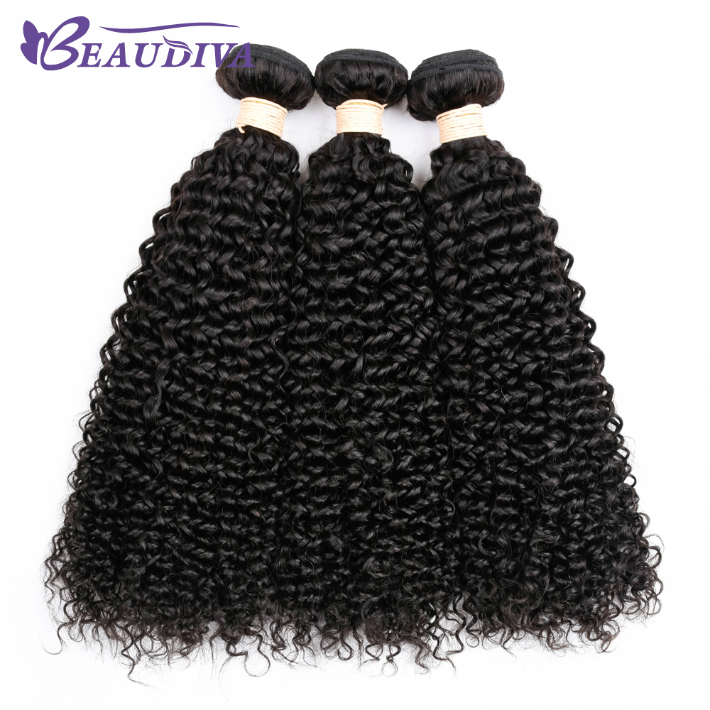 BEAUDIVA Hair Mongolian Kinky Curly Hair Bundles 100% Human Hair Bundles Non Remy Hair Extensions Weaving Can Be Dyed