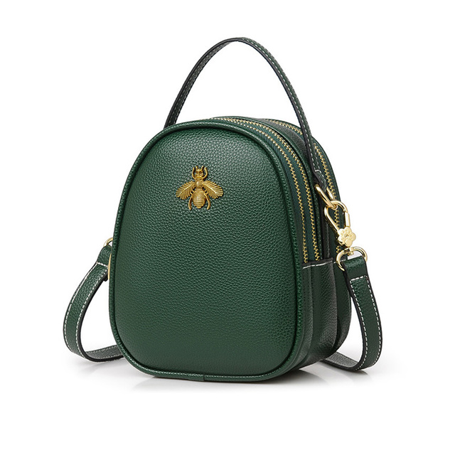 48e16947ae19 Mnee Luxury Leather Hand bags Women 2018 Small Wasp Vintage Sling Bag  Handbag Women Designer Crossbody
