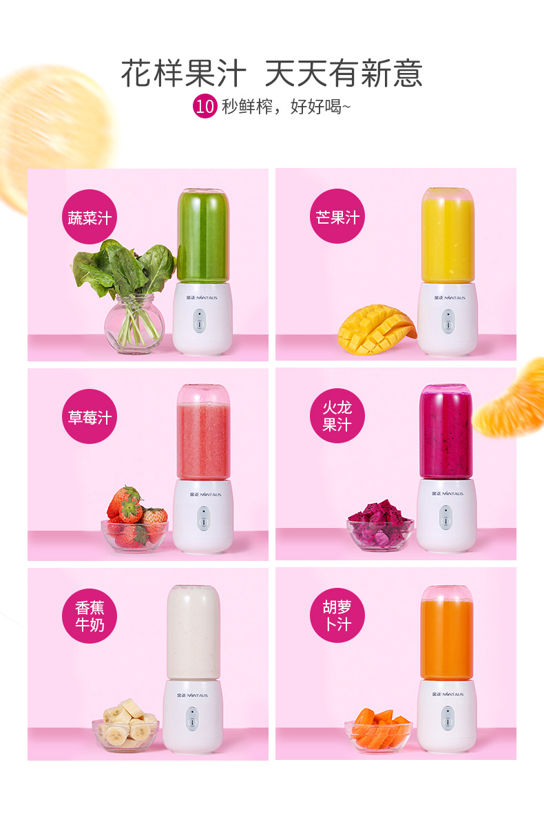 Juicer   Automatic  Portable USB Rechargeable Mini Juicer Machine Fruit Juicer Students Small Electric  Juice Cup 10