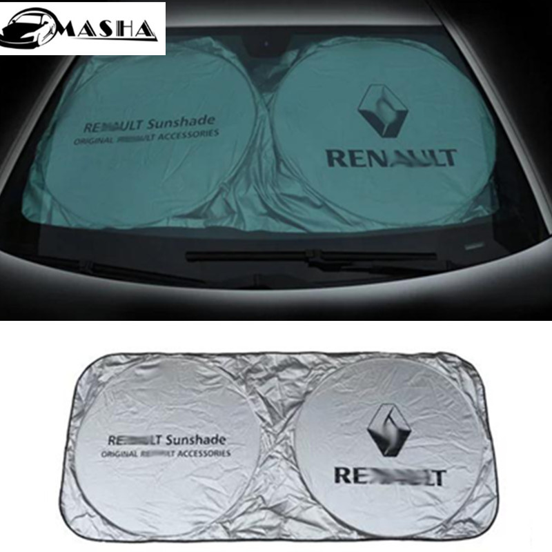 Car Front Windshield Sunshade For Renault Megane 2/Scenic 3/Scenic 2/Koleos/Fluence/Scenic RX4/Captur/Kangoo/Escape yuzhe auto automobiles leather car seat cover for renault megane 2 3 fluence scenic clio captur kadjar car accessories styling