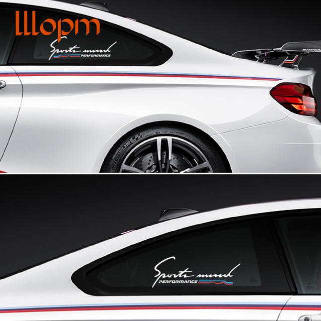 2018 new style car styling stickers reflective car side window stickers sports decals for bmw e46