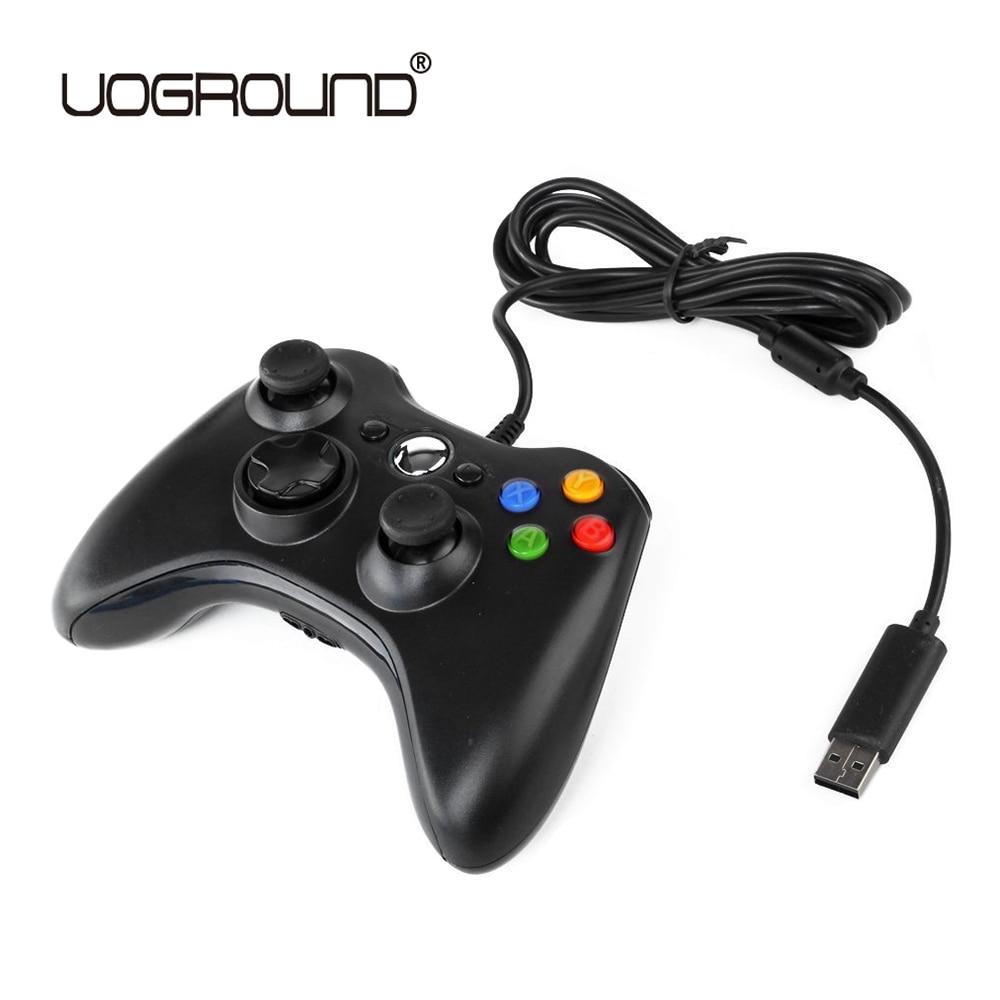 Controlador de Jogo USB Gamepad Joypad Sem Fio Preto Para Xbox 360 Slim 360 Joystick Para Oficial da Microsoft para PC para o Windows 7/8/10