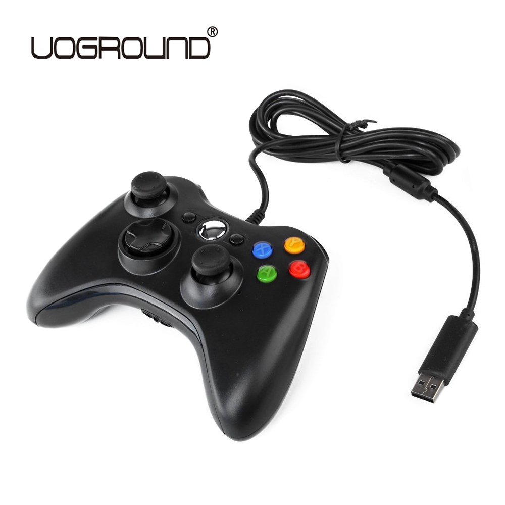 цена USB Wired Joypad Gamepad Black Game Controller For Xbox Slim 360 Joystick For Official Microsoft PC for Windows 7 / 8 / 10