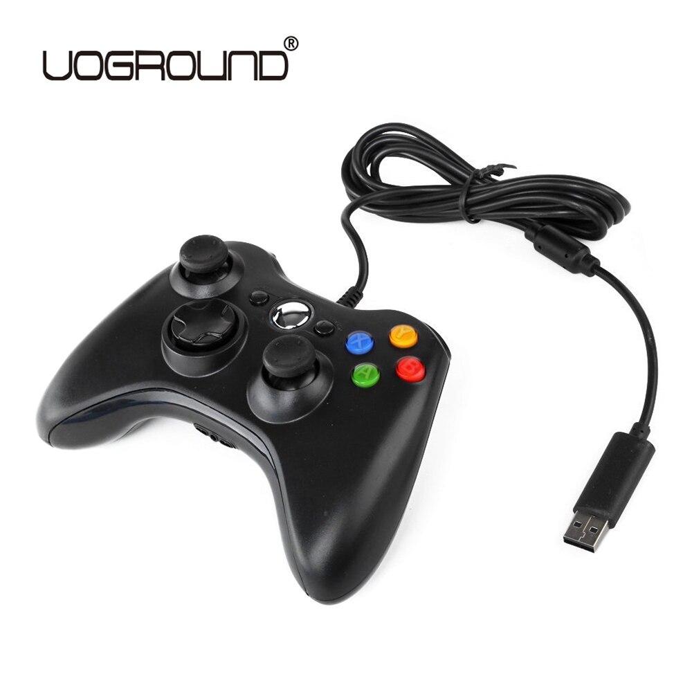 USB Wired Joypad Gamepad Schwarz Spiel Controller Für Xbox Slim 360 Joystick Für Official Microsoft PC für Windows 7/8 /10
