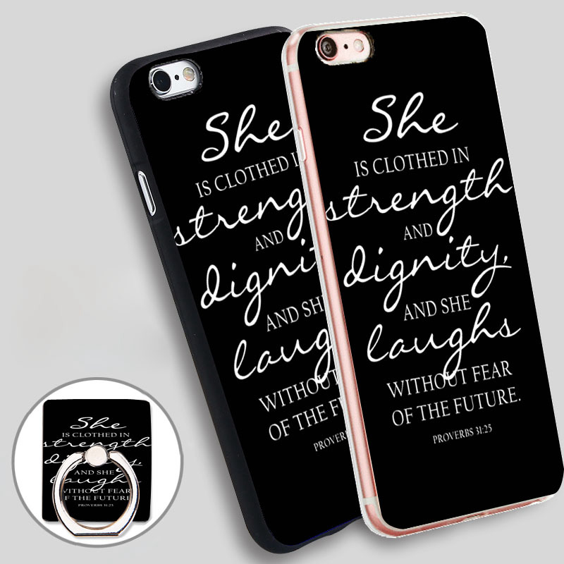 Vintage Proverbs 3125 Christian Jesus Bible Phone Ring Holder Soft TPU Silicon Case Cover for iPhone 5 SE 5S 6 6S 7 Plus