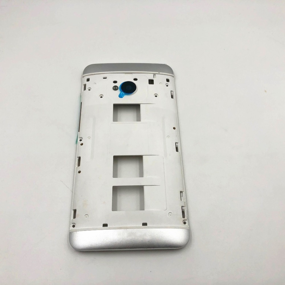 Original New 4.7 Inches Front Bezel Housing LCD Frame For HTC One Dual Sim 802t 802d 802w M7 Front Housing Faceplate