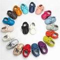 Новый Лук Детские Мокасины Мягкие Moccs Детская Обувь Дети 100% Натуральная Телячья Кожа Новорожденного Ребенка Prewalk Мокасины