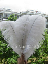 Free shipping 20pcs beautiful white ostrich feathers 14-16inch35-40CM Wedding Centerpieces