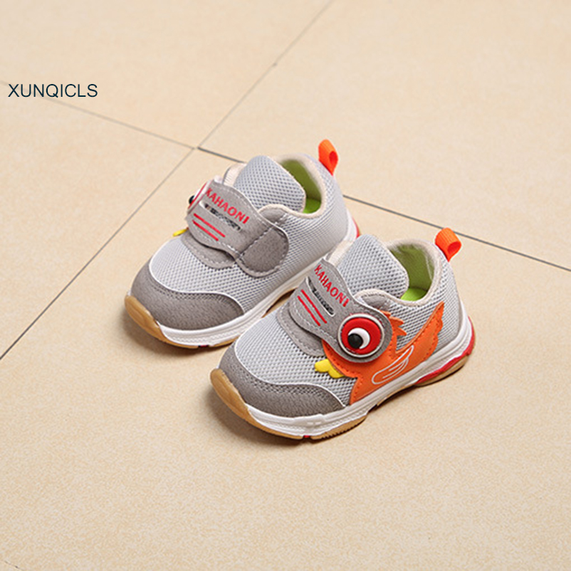 XUNQICLS 2019 Spring Toddler Baby Shoes Casual Infants Kids Sneakers Soft Sole Breathable Boys Girls Sport Shoes