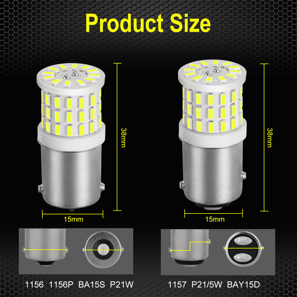Image 5 - 2Pcs Ceramic LED 1157 BAY15D P21/5W LED Bulb 1156 BA15S P21W R5W R10W Car Light DRL Daytime Running Reverse Lamp 6000K White 12V-in Signal Lamp from Automobiles & Motorcycles