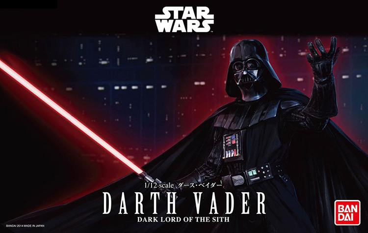 2015 New Genuine Bandai 1:12 Scale Star Wars Darth Vader dark lord of the sith Plastic Model Building Kits DIY Toys 2015 new genuine bandai 1 48 scale star wars snow speeder modified incom t 47 airspeeder plastic model building kits diy toys