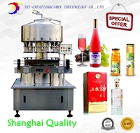 Negative Pressure Wine Filling Machine 12 Nozzles 2L Red Wine Vinegar Filling Machine Automatic Glass Bottle