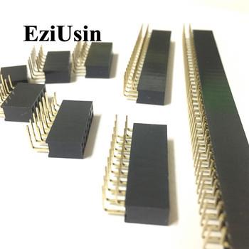 2 54mm R A dwurzędowe żeńskie 2 ~ 40P płytka drukowana kątowa głowica pinowa złącze wtykowe Pinheader 2 * 4 6 10 20 40Pin dla Arduino tanie i dobre opinie pin socket pinsocket EZIUSIN