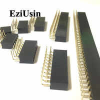 2.54mm r/a dupla fileira fêmea 2 40 40 p pwb placa direito ângulo pino encabeçamento soquete conector pinheader 2 */4/6/10/20/40pin para arduino