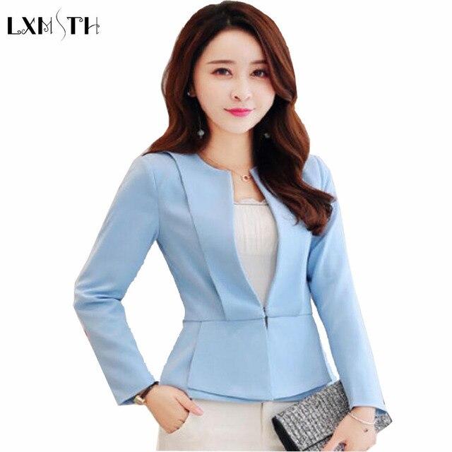 slim women blazers and jackets 2017 plus size ladies blazers short
