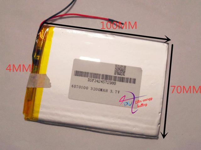 best battery brand 3.7V 3200MAH 4070100 tablet battery with protection board For MID 7inch Tablet PC