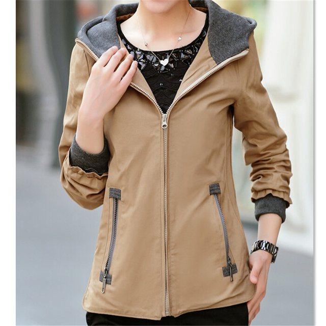 New Female Outerwear 2016 Spring Autumn Women's Plus Size Casual Jacket Fashion Female Coat Women Clothes A055