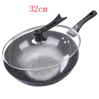 Thickening Medical Stone Non stick Frying Pan 32CM Multi purpose Pancake Steak frying wok No fumes Use for Gas Induction Cooker