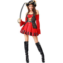 Halloween Costumes Adult Womens Pirate Noble Lady Queen Costume Fancy Dress Cosplay for Women
