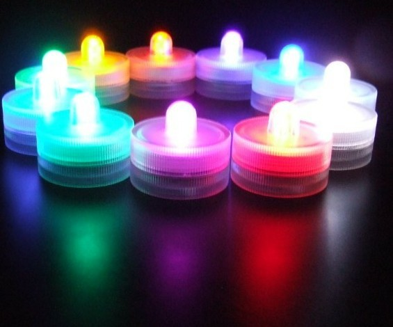 12 Pcs/lot Multicolor Waterproof Small Led Submersible Lights For Frozen Party Decoration Supplies