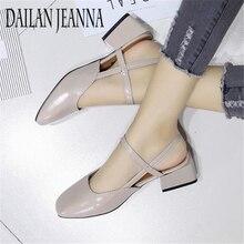 Słowo klamra na wysokich obcasach damska wersja 2018 Baotou fajne buty z grubymi obcasami w środku retro rzymska buty