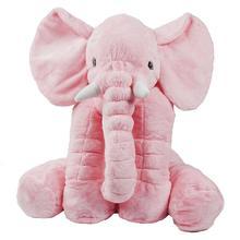 Baby Cartoon Animal Plush Toys Kids Long Nose Elephant Soft Plush Toy Cute Children Stuff Pillow Lovely Lumbar Cushion Pillow