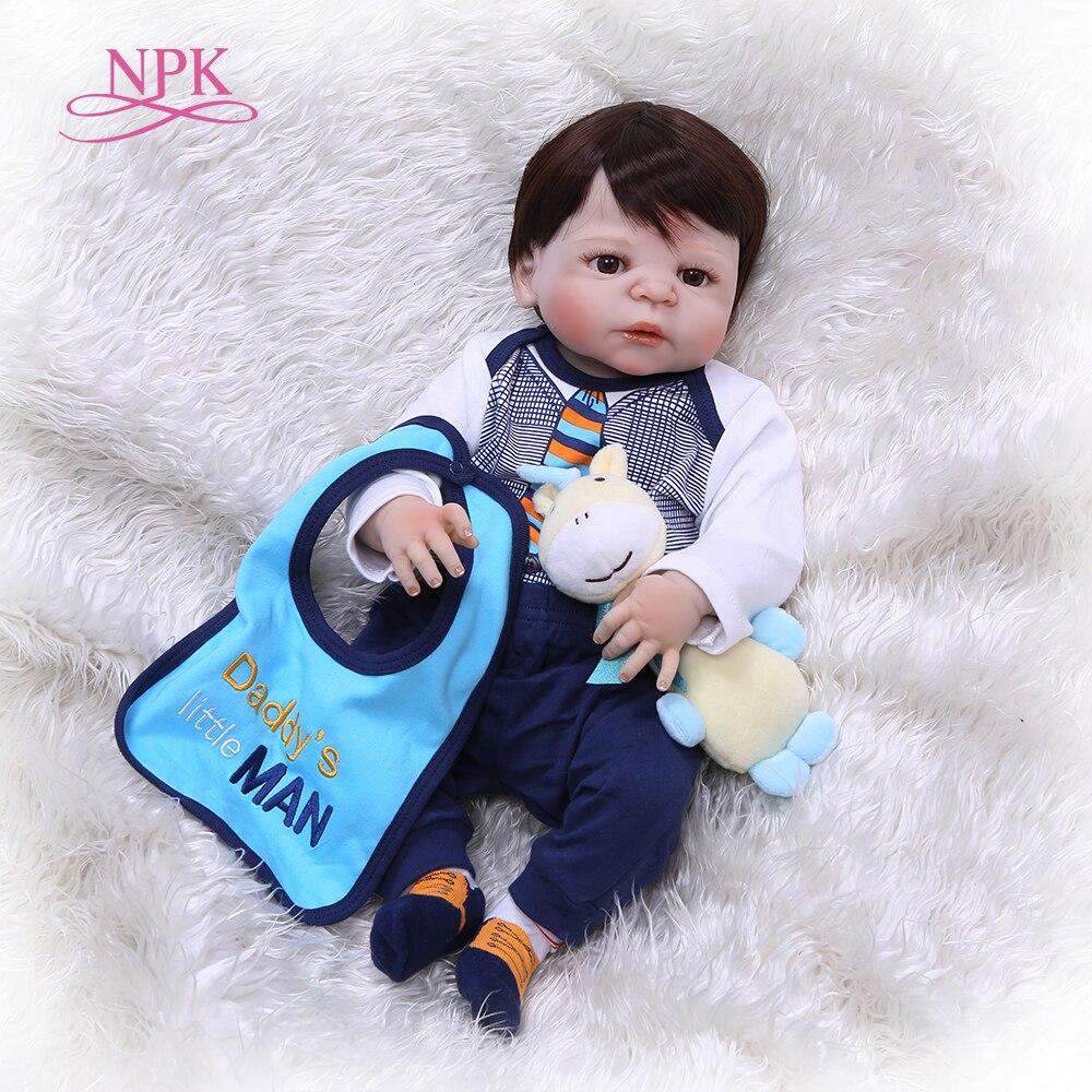 NPK57CM full body vinyl silicone reborn baby doll toy newborn babies princess doll birthday holiday gift