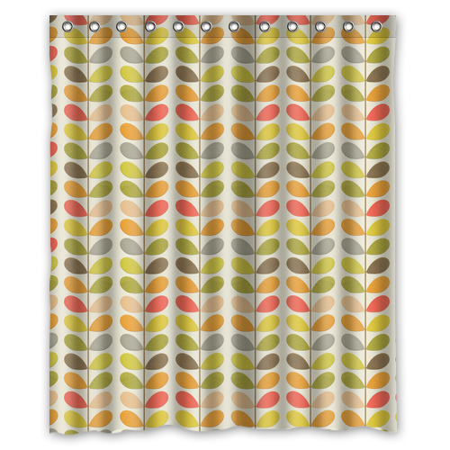 WARM TOUR Retro Orla Leaves Kiely Fashion Shower Curtain Polyester Hotel Bathroom With Hooks