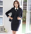 2016 Primavera Outono OL Formal Estilos Professional Business Women Trabalho Ternos 3 Peças Casacos + Colete + Saia Senhoras Blazers Outfits