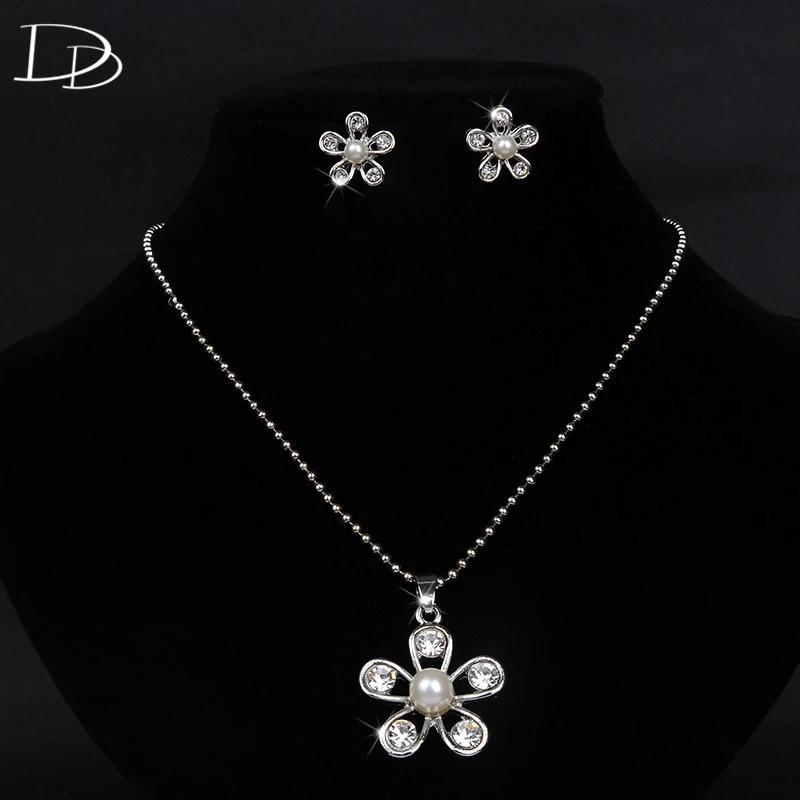 Simulated Diamond Heart Necklace Costume Jewellery AAA