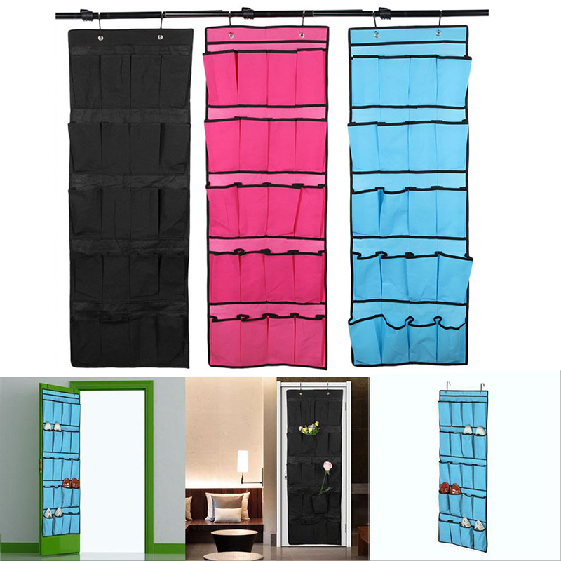20 Pocket Non Woven Fabric Over The Door Shoe Organizer Space Saver Rack  Hanging Storage Hanger ZH994 In Storage Bags From Home U0026 Garden On  Aliexpress.com ...