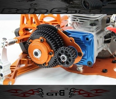 GTB 3 Speed Transmission System Kit With Plastic Gear Cover For 1/5 HPI KM ROVAN Baja 5B 5T 5SC RC Car Upgrade Part main pump combination for gtb 4 wheel hydraulic brake set fit for 1 5 rc car hpi baja 5b ss