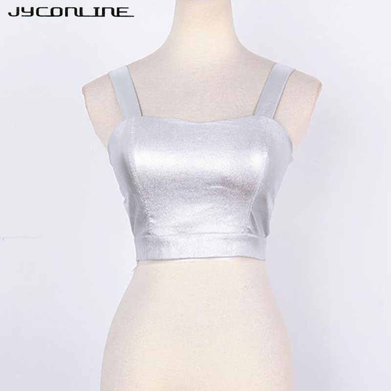 c8e9f582386 Detail Feedback Questions about JYConline PU Leather Tank Top Cropped For  Women Summer Hollow Sexy Bralette Crop Top Night Club Back Zipper Short  Vest ...