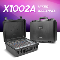 New Compact Mixer By 10 Way With Power Amplifier 300W 2 Multi Function Professsion Sound Console