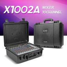 Przenośny Przypadku Mikser Audio w/Bluetooth i USB 10 Kanałowy wzmacniacz mocy 300 W * 2 8ohm Multi-professsional funkcja dźwięku konsoli