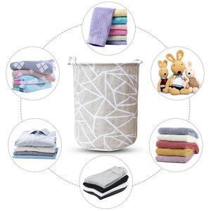 Image 5 - אמנות בד מתקפל גיאומטריה בגדים מלוכלכים צעצועי דלי אחסון בגדים מלוכלכים כביסה סל עבור ביתי אחסון סל