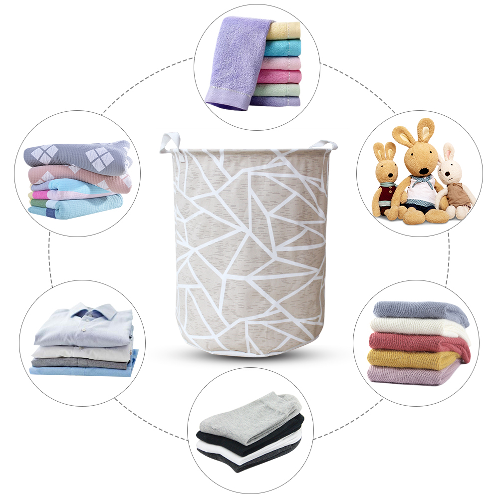 Image 5 - Art Cloth Folding Geometry Dirty Clothes Toys Storage Bucket Dirty Clothes Laundry Basket For Household Storage Basket-in Storage Baskets from Home & Garden