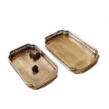 Cocostyles старинные золотые лоток с лазерная резка дизайн для классические украшения дома в китайском стиле