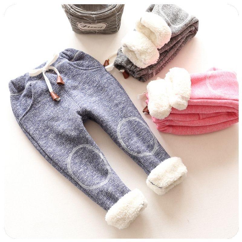 BibiCola kids winter warm sports pants baby boy girl pants newborn baby trousers
