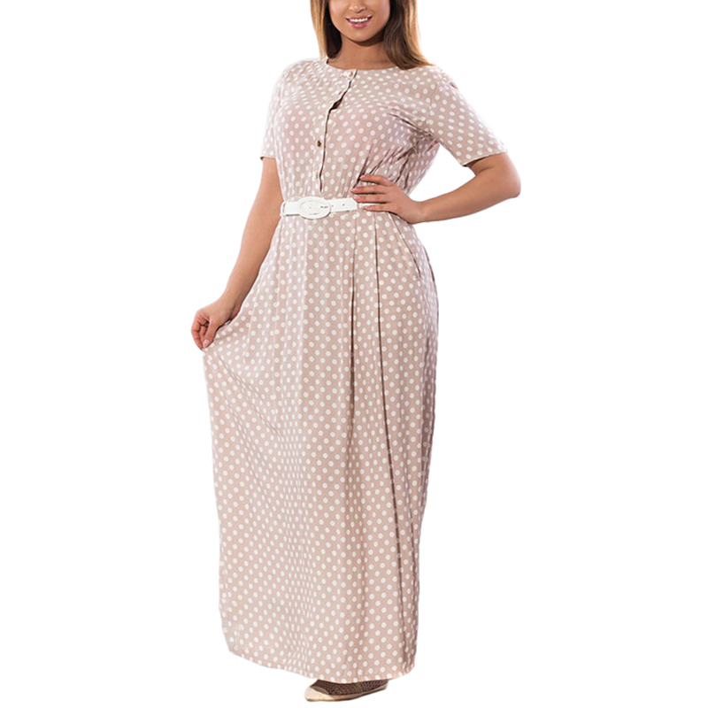 Summer Plus Size 4XL 5XL 6XL Polka Dot Maxi Dresses Women Vintage Elegant Sashes Dress Big Large Size 2017 Women  Long Dresses