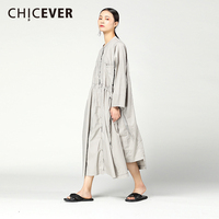CHICEVER 2018 Spring Black Women Dress Female Long Sleeve Black Lace Up Women S Dress Of