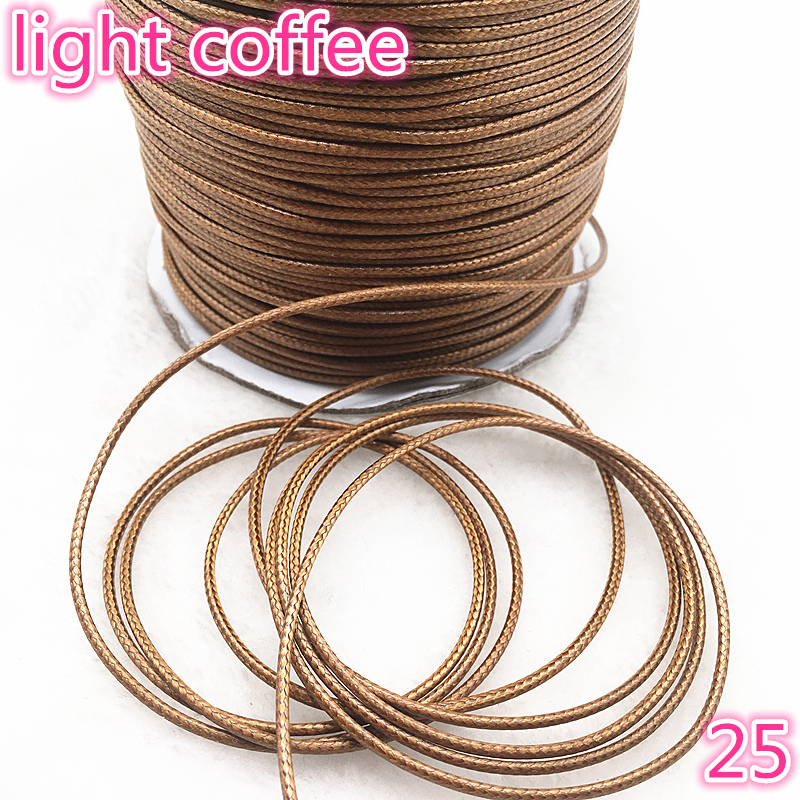 10meters Dia 1.0 /1.5mm Waxed Cotton Cord Waxed Thread Cord String Strap Necklace Rope Bead For Jewelry Making DIY Bracelet #25