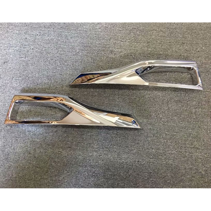 2pcs ABS Chrome Front Fog Light Lamp Cover Trim for NISSAN LEAF 2017 2018 Car Styling car Accessories