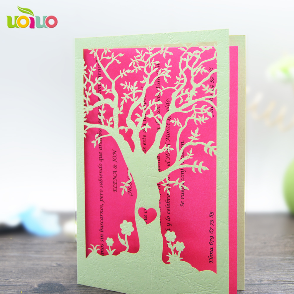 Elegant chinese professional wedding invitation card maker laser elegant chinese professional wedding invitation card maker laser cutting pearsonalize flower tree red invitations model in cards invitations from home kristyandbryce Choice Image