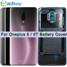 100% New Back Housing OnePlus 6 6T Battery Cover Rear Door Housing Case New One Plus 6T Replacement OnePlus 6 Battery Cover(China)