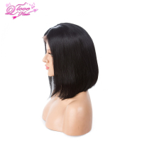 Queen Love Hair Short Glueless Lace Front Human Hair Wigs With Baby Hair 8 Inch To